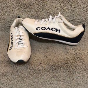 Coach logo sneakers sz 7